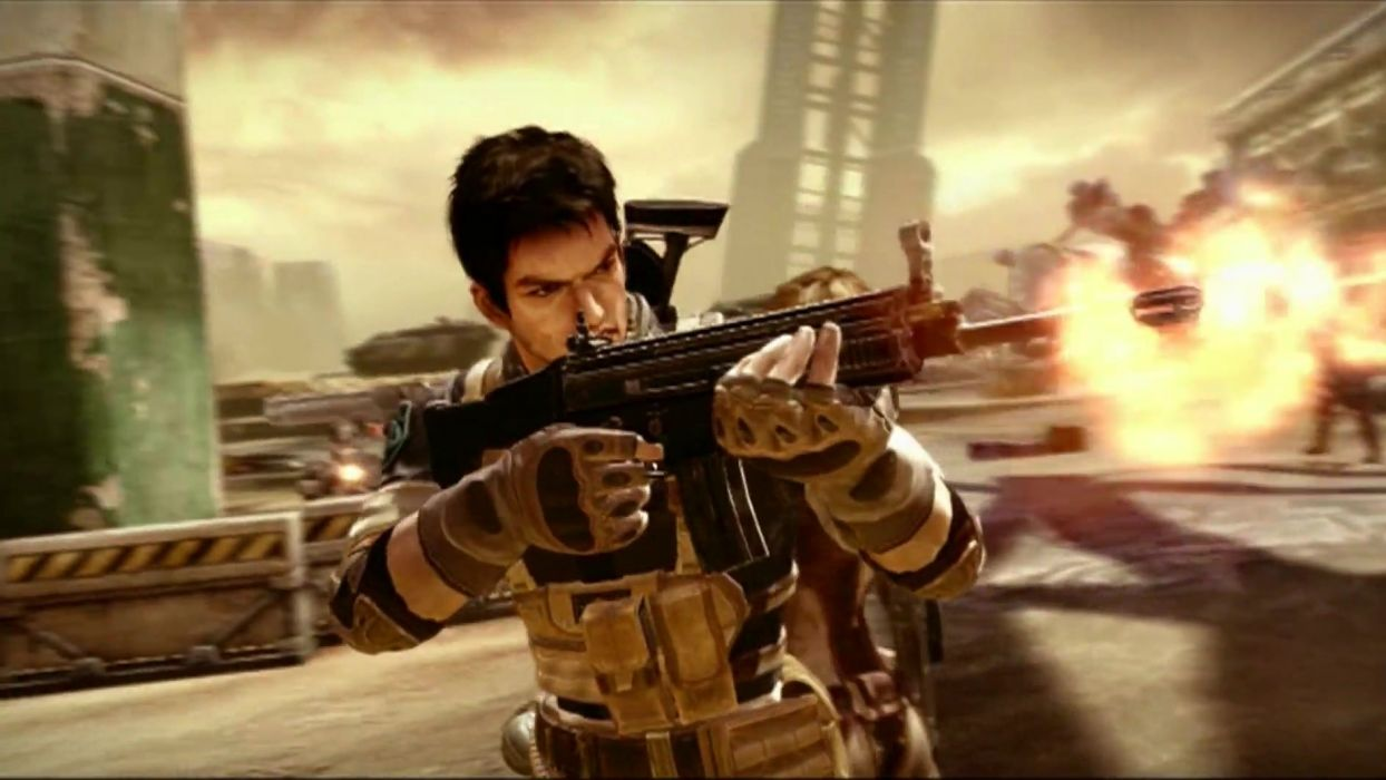 ZOMBIES MONSTERS ROBOTS shooter action sci-fi zmr fighting horror (33) wallpaper