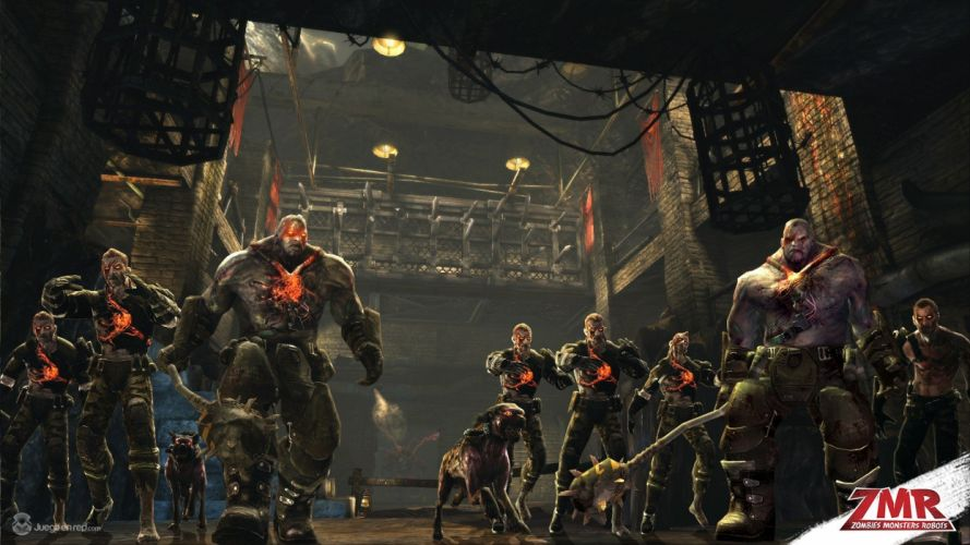 ZOMBIES MONSTERS ROBOTS shooter action sci-fi zmr fighting horror (54) wallpaper