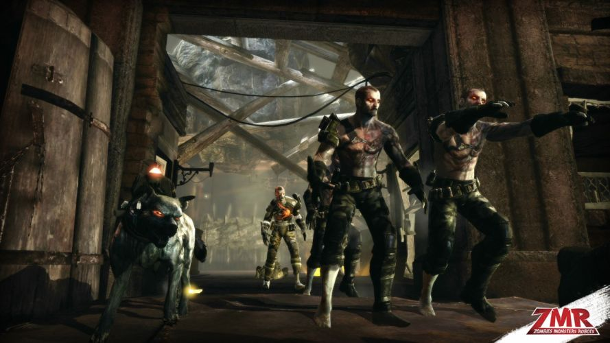 ZOMBIES MONSTERS ROBOTS shooter action sci-fi zmr fighting horror (53) wallpaper