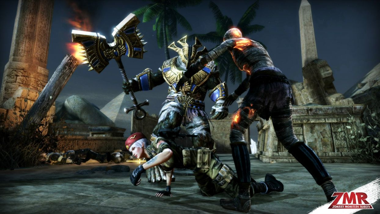 ZOMBIES MONSTERS ROBOTS shooter action sci-fi zmr fighting horror (57) wallpaper