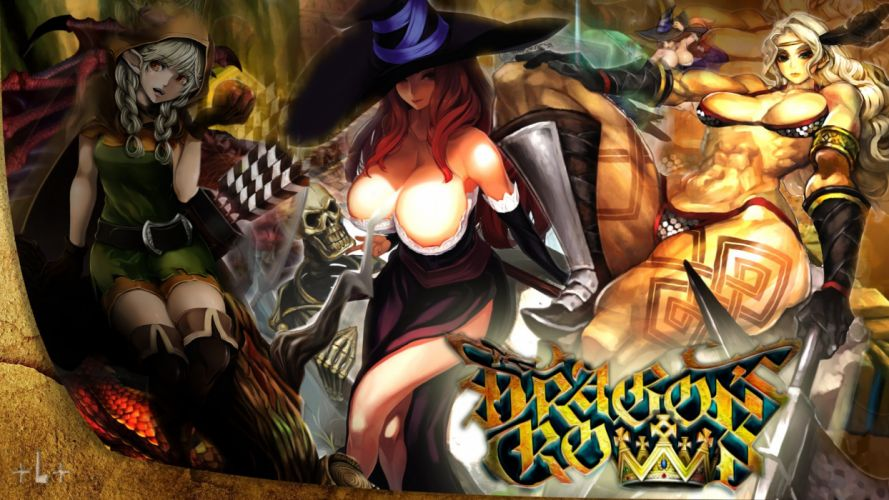DRAGONS-CROWN anime action rpg fantasy family medieval fighting dragons crown (11) wallpaper