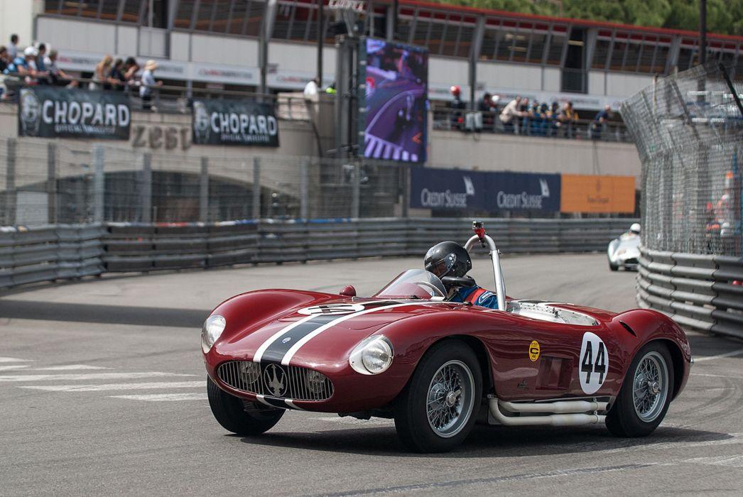 Race Car Supercar Racing Classic Retro 1955 Maserati 300S 5 4000x2677 wallpaper
