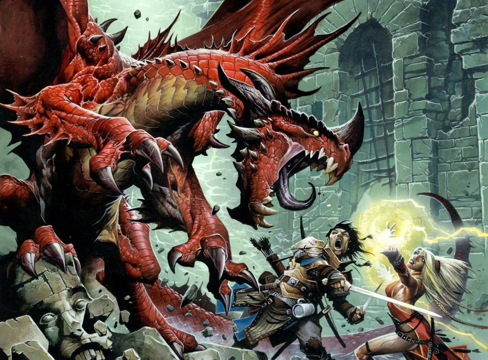 PATHFINDER rpg fantasy dragon board (2) wallpaper