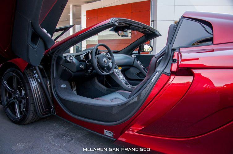 2015 650s Volcano Red car McLaren spider Supercar vehicle wallpaper wallpaper