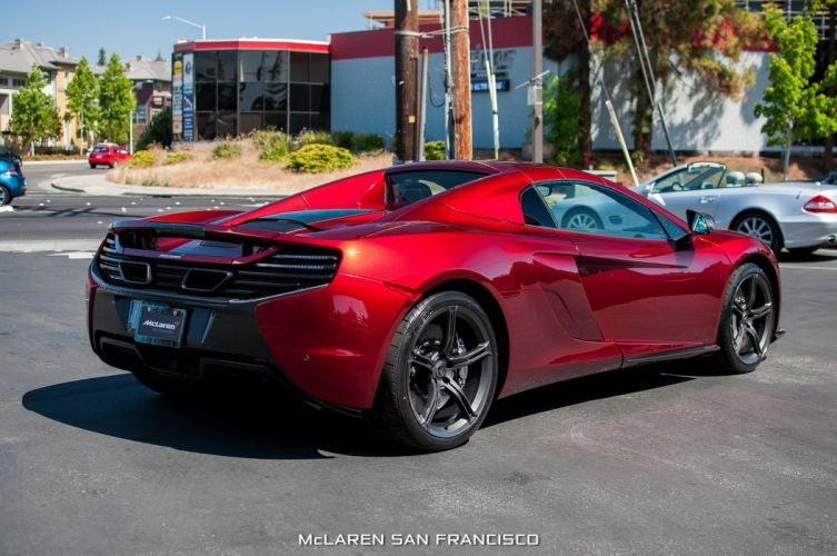 2015 650s Volcano Red car McLaren spider Supercar vehicle wallpaper wallpaper