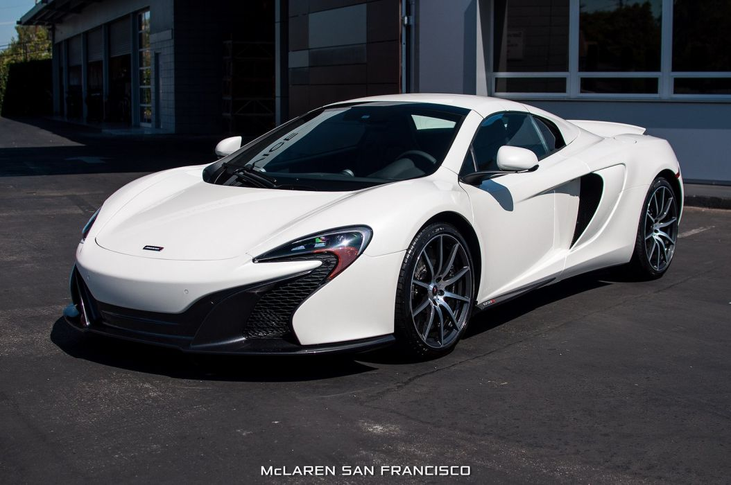 2015 650s car McLaren Pearl White spider Supercar vehicle wallpaper wallpaper