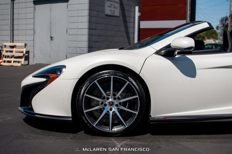 2015 650s car McLaren Pearl White spider Supercar vehicle wallpaper wallpaper
