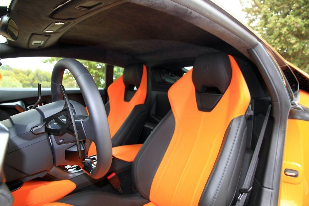 2014 610 4 huracan Lamborghini lb724 Orange Supercar wallpaper