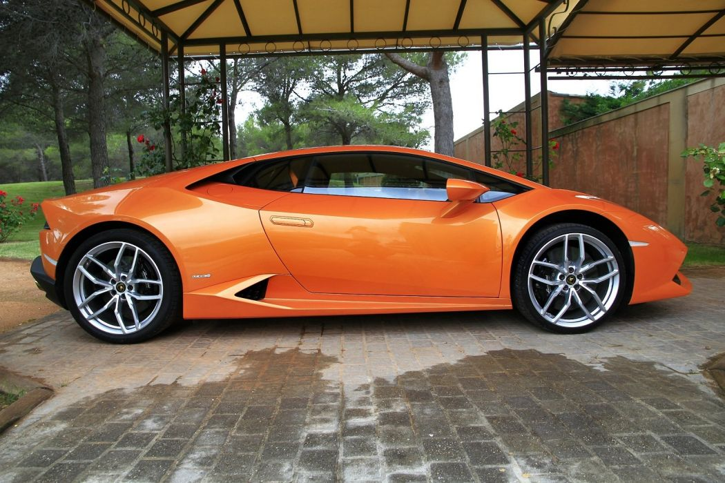 2014 610 4 huracan Lamborghini lb724 Orange Supercar wallpaper