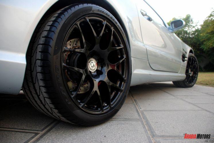 Mercedes SL55 AMG HRE wheels tuning wallpaper