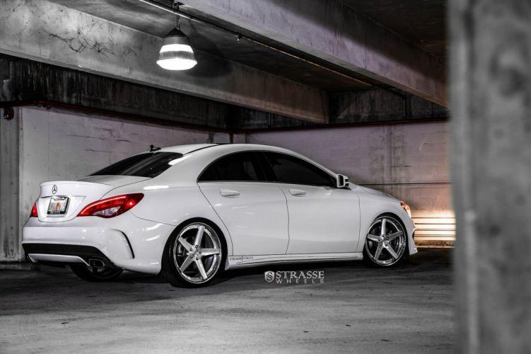 Mercedes Benz CLA Strasse Wheels tuning white wallpaper