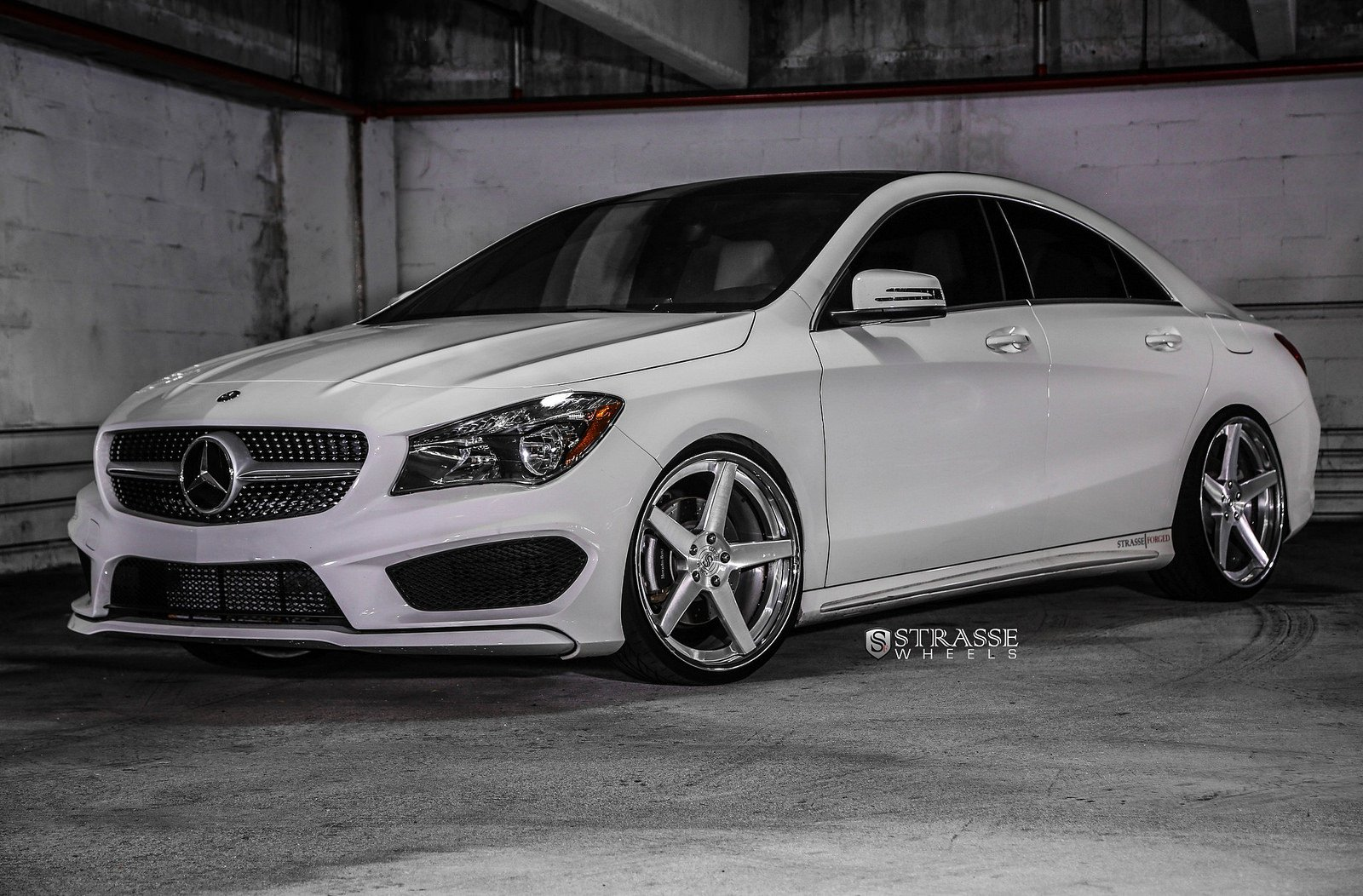 Mercedes benz cla strasse wheels tuning white wallpaper for White rims for mercedes benz
