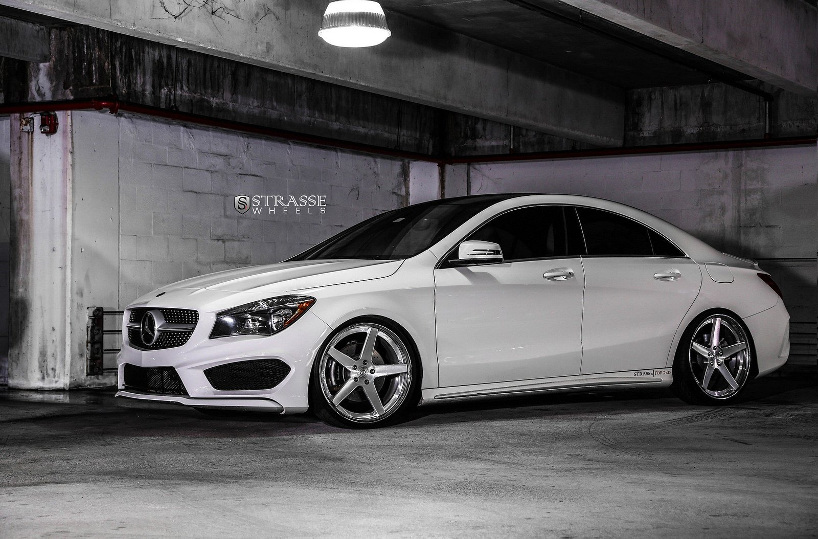 mercedes benz cla strasse wheels tuning white wallpaper. Black Bedroom Furniture Sets. Home Design Ideas