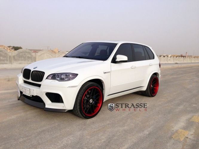 BMW X5M SUV Strasse Wheels tuning white wallpaper