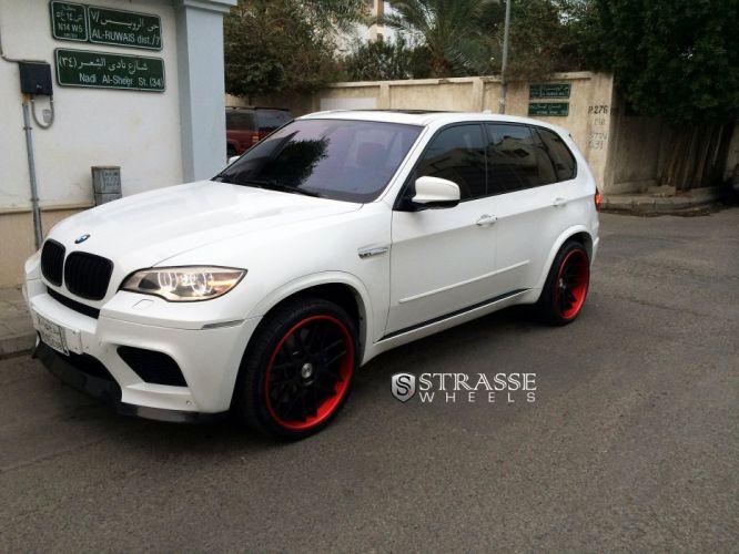 BMW X5M SUV Strasse Wheels tuning white wallpaper