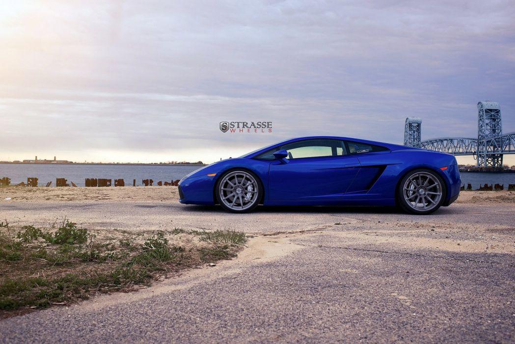 cars Gallardo strasse Italia Lamborghini spider Supercar vehicles wheels blue wallpaper