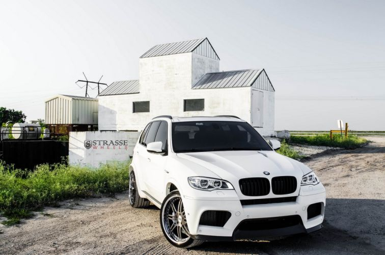 BMW X5M Strasse Wheels tuning cars white wallpaper