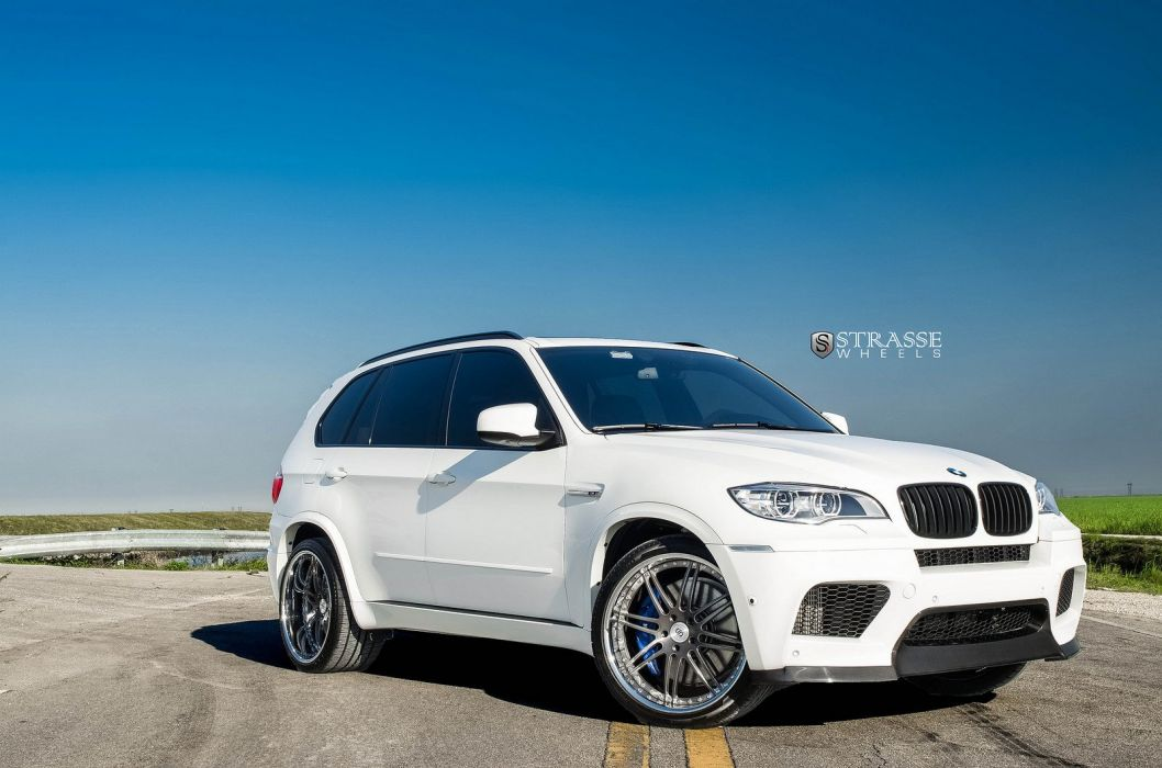 BMW X5M Strasse Wheels tuning cars white wallpaper