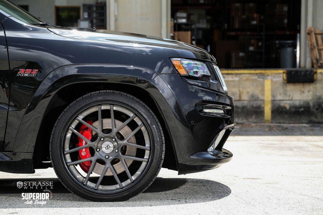 jeep grand cherokee srt8 Strasse Wheels tuning cars black wallpaper