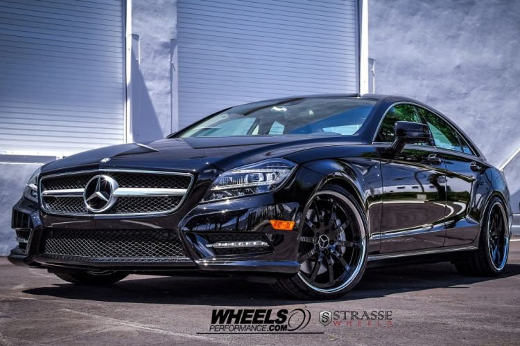 Mercedes CLS550 Strasse Wheels tuning cars black wallpaper