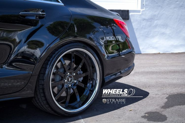 Mercedes CLS550 Strasse Wheels tuning cars black wallpaper