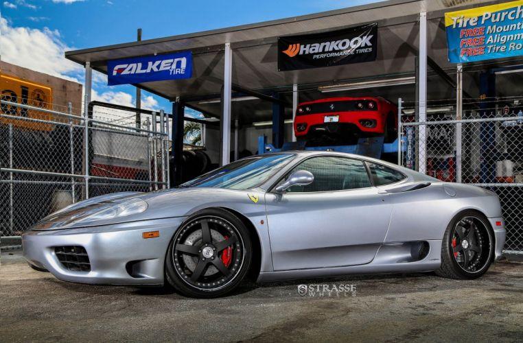 Ferrari 360 Modena Strasse Wheels tuning cars grey wallpaper