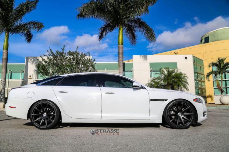 Jaguar XJL Strasse Wheels tuning cars white wallpaper