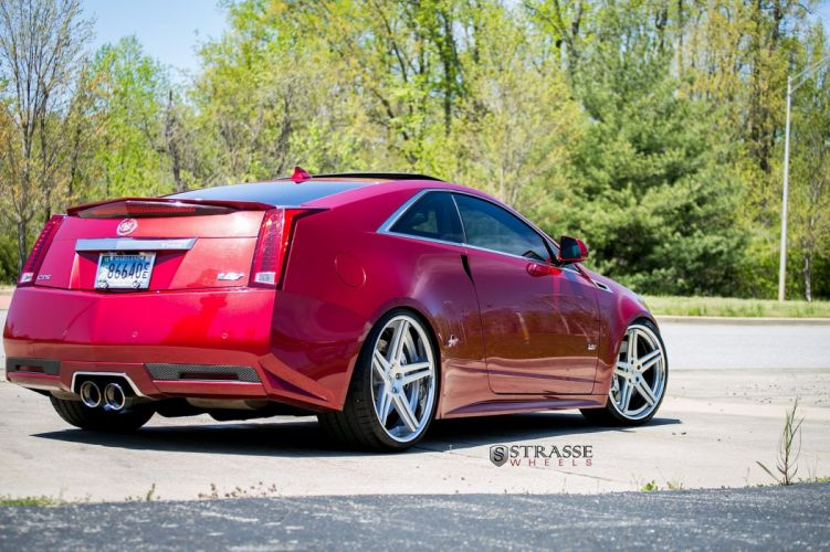 cadillac CTS-V Coupe Strasse Wheels tuning cars wallpaper