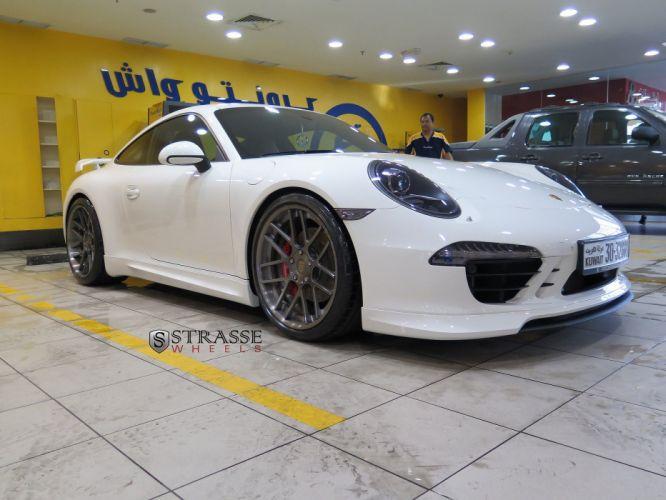 Porsche 991 GTS Strasse Wheels tuning cars white wallpaper