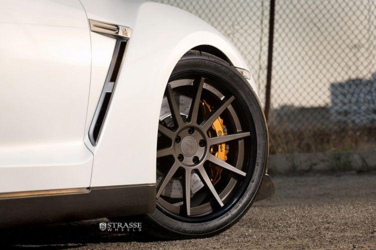 GTR Nissan strasse Tuning wheels white wallpaper