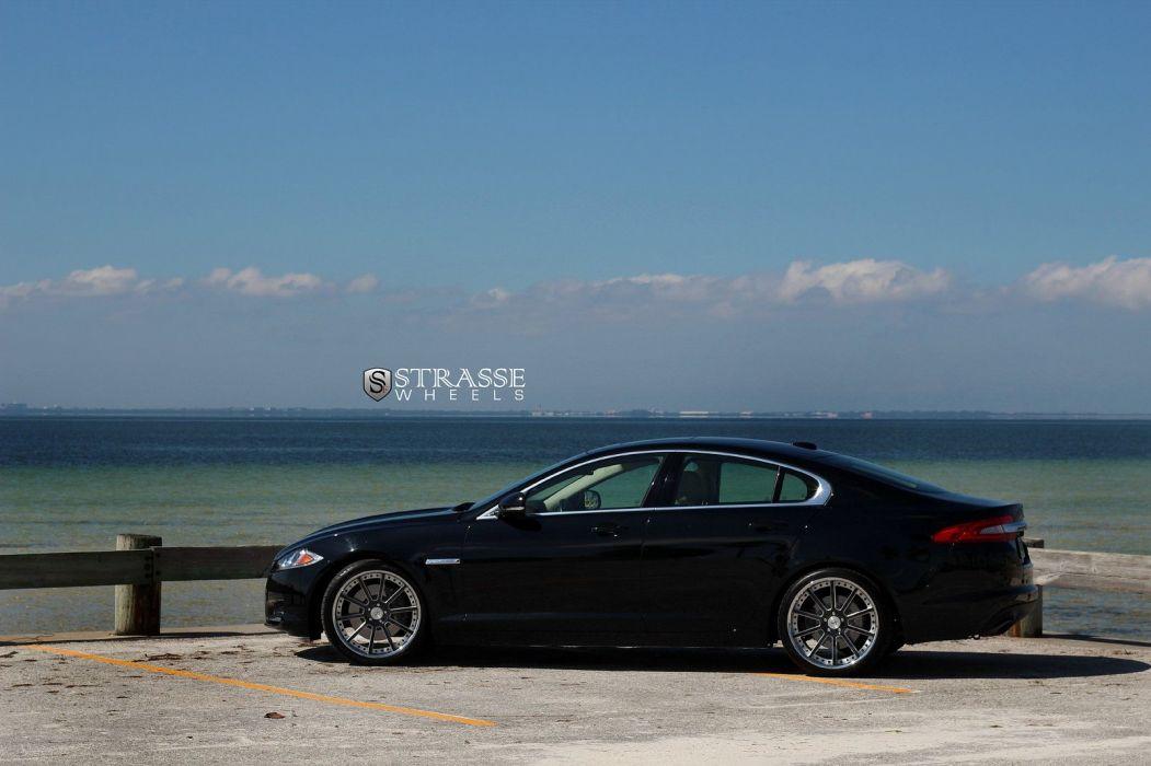 Jaguar XF Strasse Wheels tuning cars black wallpaper