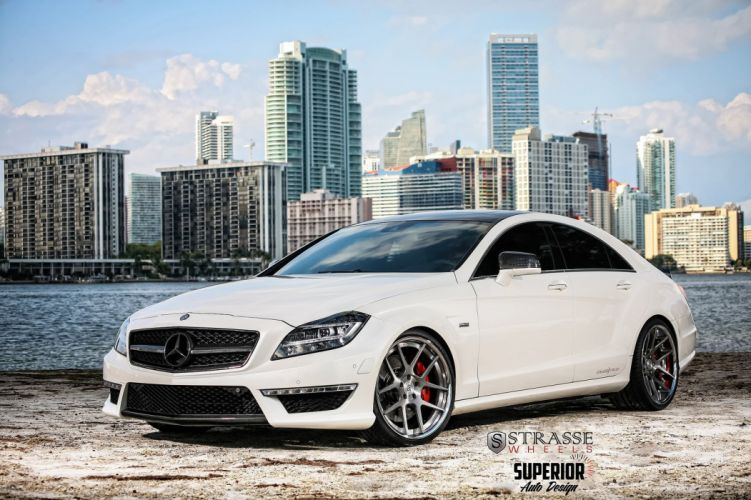 mercedes CLS63 AMG Strasse Wheels tuning cars white wallpaper