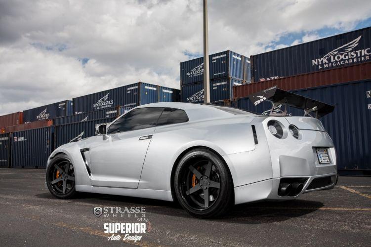 cars GTR Nissan strasse Tuning wheels wallpaper