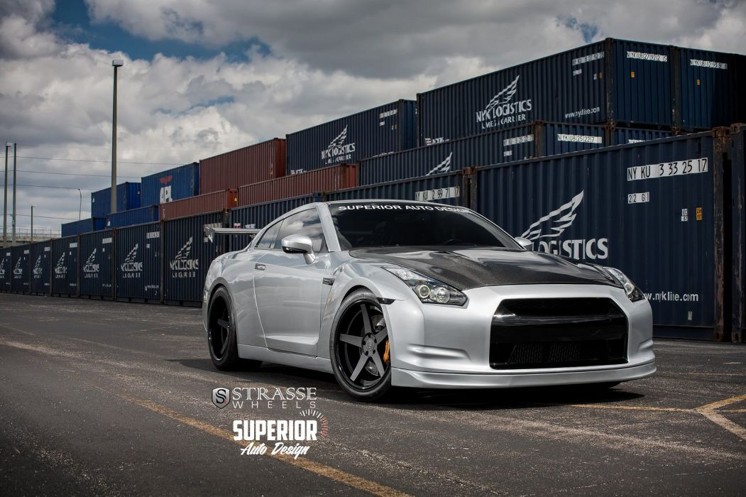 cars GTR Nissan strasse Tuning wheels wallpaper