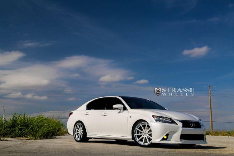 Lexus GS350 F-Sport Strasse Wheels tuning cars white wallpaper
