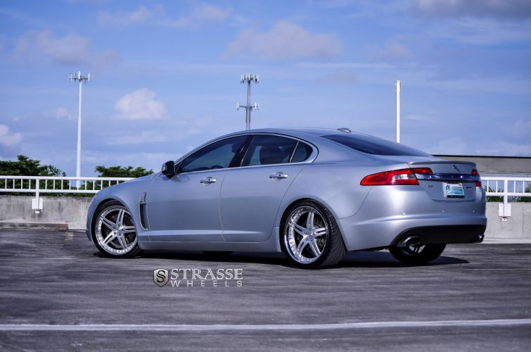 grey cars jaguar XF strasse Tuning wheels wallpaper