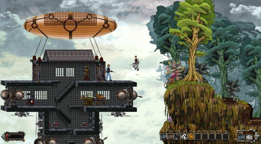 WINDFORGE scrolling fantasy steampunk shooter rpg wallpaper