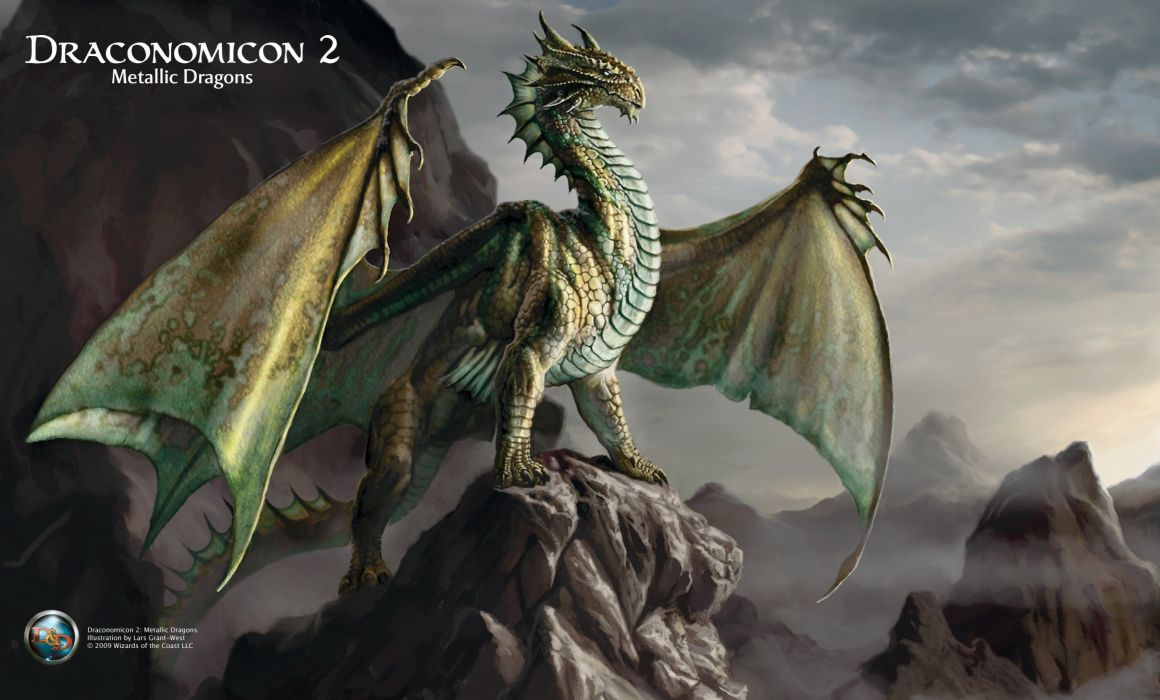 DRACONOMICON-METALLIC-DRAGONS Dungeons dragons metallic draconomicon fantasy board rpg dragon wallpaper