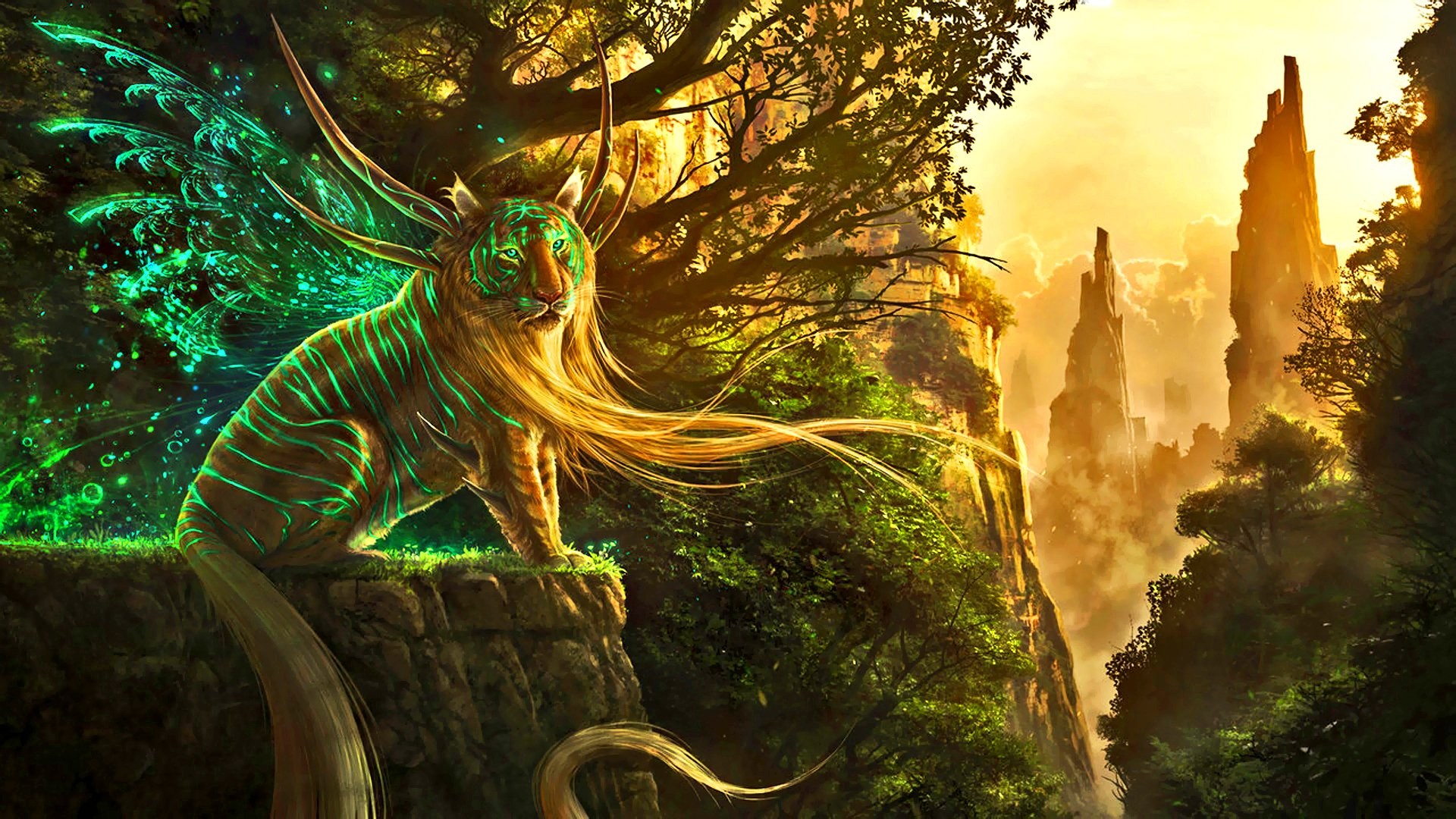 Fantasy Tiger Hd Desktop Wallpapers Widescreen High: RIFT Fantasy Rpg Tiger Wallpaper