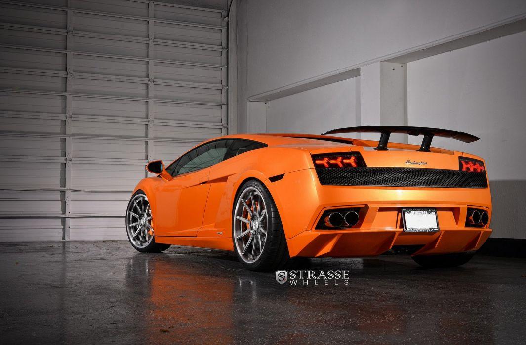 cars Gallardo strasse Italia Lamborghini Supercar vehicles wheels orange wallpaper