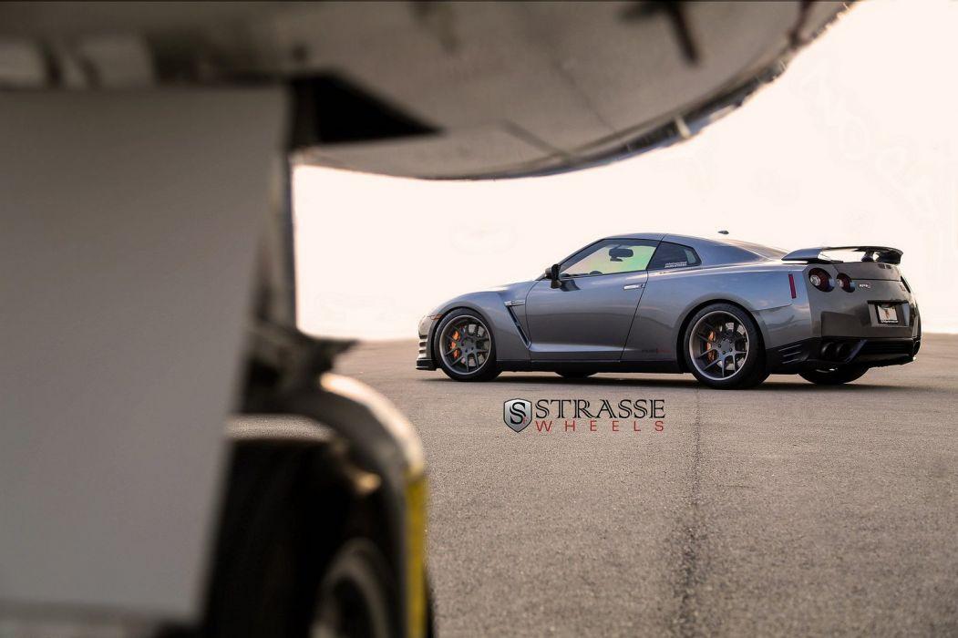 GTR Nissan strasse Tuning wheels grey wallpaper