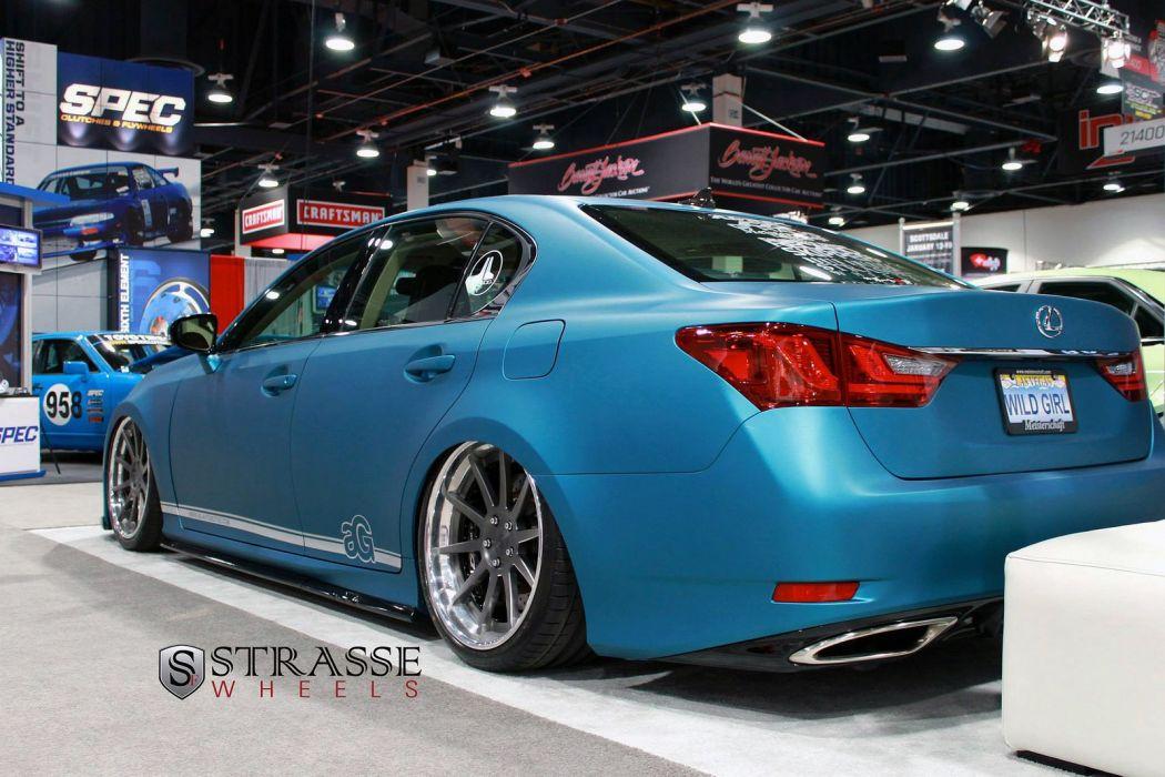 Lexus GS350 blue Strasse Wheels tuning cars wallpaper