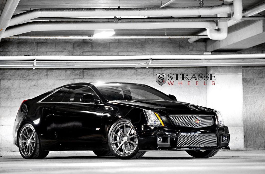 Cadillac cars Coupe cts v strasse Tuning wheels black ...