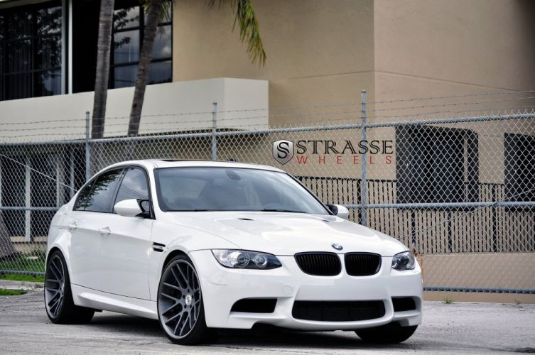 BMW e90 strasse Tuning wheels m3 white wallpaper