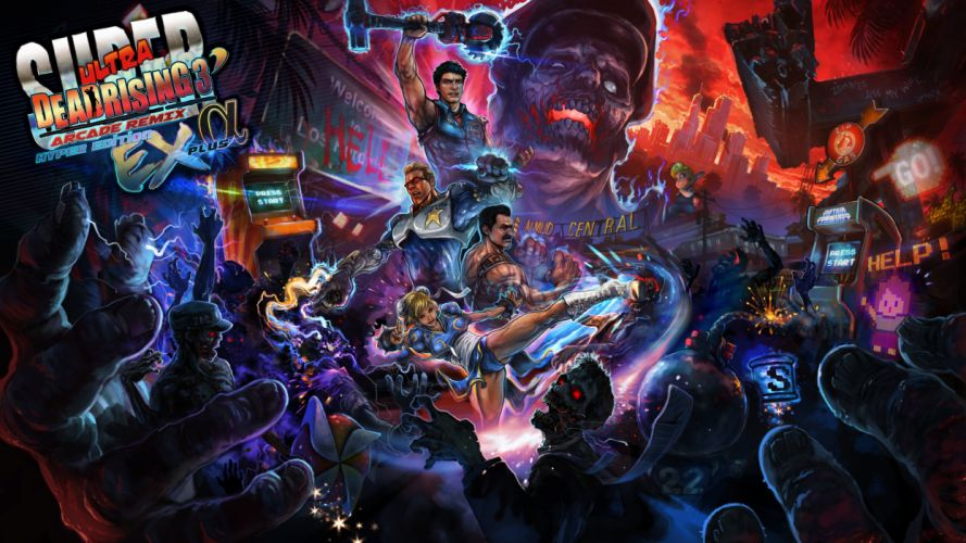 SUPER ULTRA DEAD RISING action Arcade Remix Hyper horror wallpaper