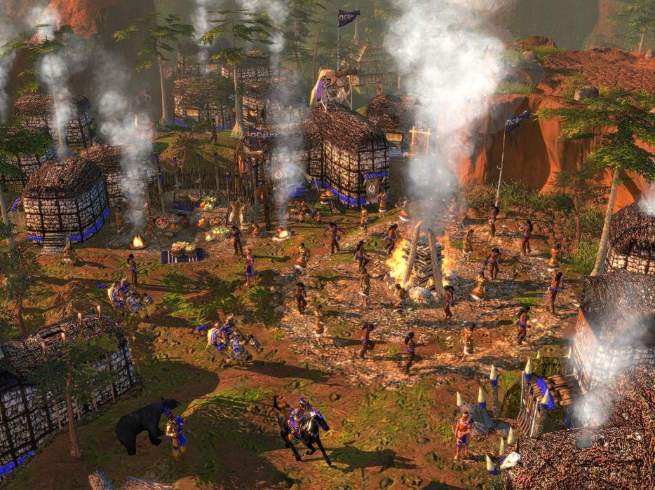 AGE-OF-EMPIRES WARCHIEFS indian native american strategy age empires real-time western wallpaper