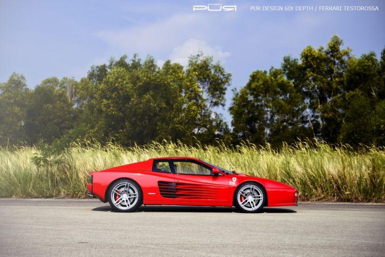 testarossa Ferrari purwheels Tuning wheels wallpaper