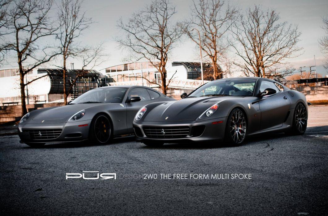 599 GTB Ferrari purwheels Tuning wheels wallpaper