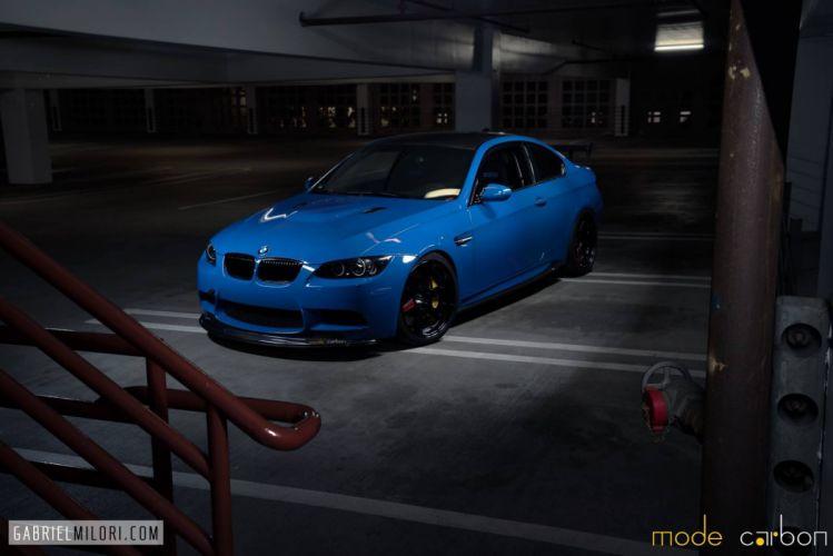 BMW cars e92 m3 tuning blue grey wallpaper