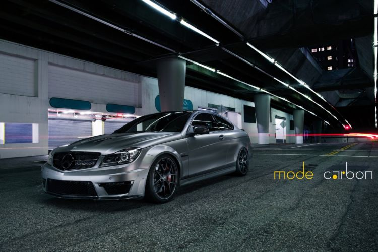 amg grey c63 Coupe Mercedes Tuning wallpaper